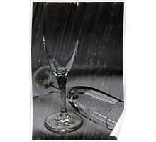 Champagne In The Rain Poster