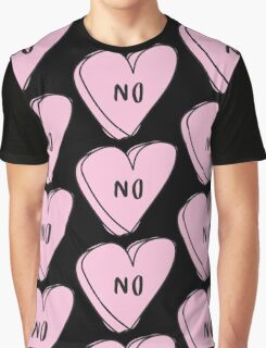 NO Sassy Conversation Heart ♥ Trendy/Hipster/Tumblr Meme Graphic T-Shirt