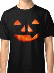 Halloween Glowing Pumpkin Face Classic T-Shirt