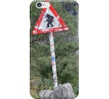 Warning! Crossing Trolls iPhone Case/Skin