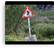 Warning! Crossing Trolls Canvas Print