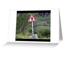 Warning! Crossing Trolls Greeting Card