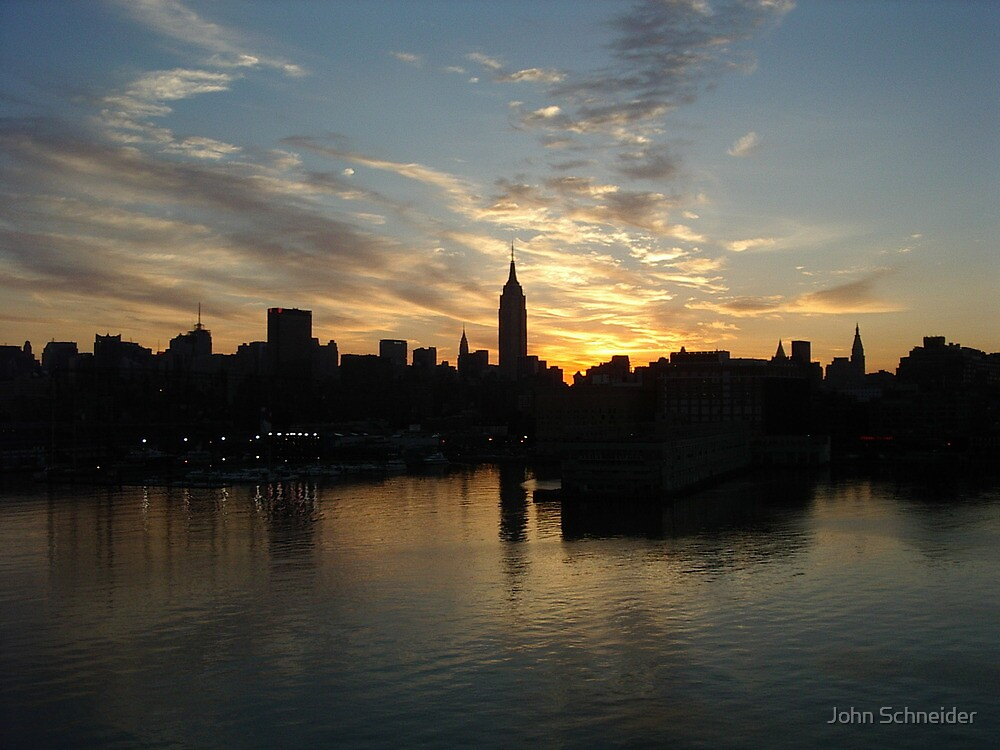 Sunrise Manhattan by John Schneider