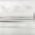 White Out on Formby Beach by Robin Whalley