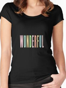 WONDERFUL Women's Fitted Scoop T-Shirt