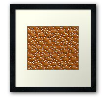 Crisp bread Framed Print