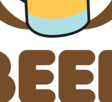Beer is the ANSWER! with a wreath and BEER JUG Sticker