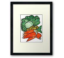 Lettuce, Carrots & Potatoes Framed Print