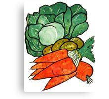 Lettuce, Carrots & Potatoes Canvas Print