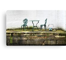 Empty Table And Chairs Canvas Print