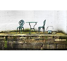 Empty Table And Chairs Photographic Print