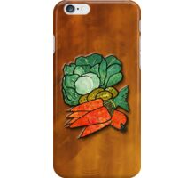 Lettuce, Carrots & Potatoes iPhone Case/Skin