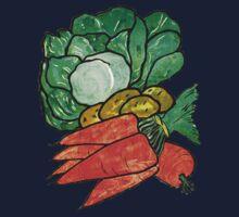 Lettuce, Carrots & Potatoes One Piece - Long Sleeve