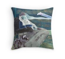 Comedian Suffering from Influenza. Throw Pillow