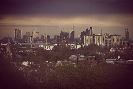 London Skyline Primrose hill by James Taylor
