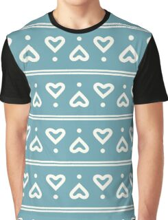 The pattern in the hearts Graphic T-Shirt