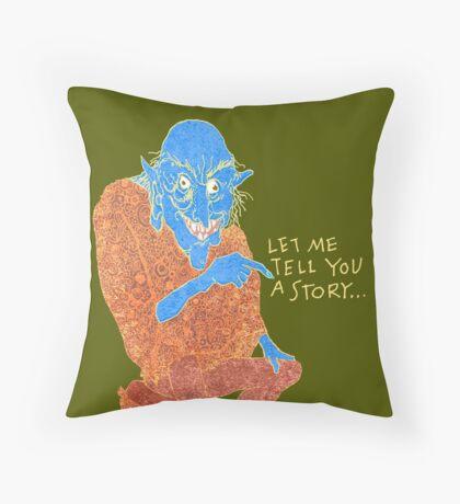 The Demon Storyteller Throw Pillow