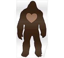 I heart Bigfoot Poster