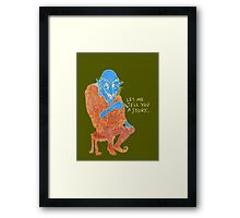 The Demon Storyteller Framed Print