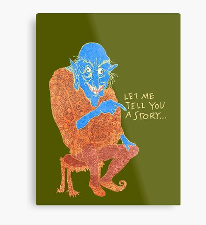 The Demon Storyteller Metal Print
