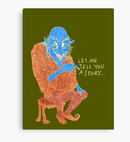 The Demon Storyteller Canvas Print