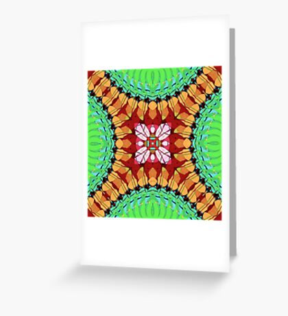 Colorful Mirror Abstract 1 Greeting Card