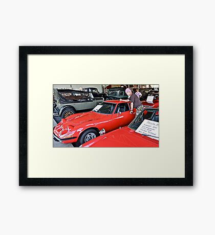 Bygone Days , Cruise Around The Memory and Dreams. i ♥ ♥ ♥  Opel GT♥  .   by Doktor Faustus. Framed Print