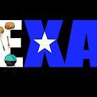 Texas Lone Star BBQ Digital Art by SJBroadmeadow