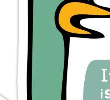 The Upset Duck Sticker