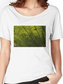 Tropical Green Curves and Diagonals Women's Relaxed Fit T-Shirt