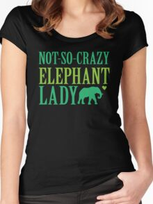 NOT-So-CRAZY elephant lady Women's Fitted Scoop T-Shirt