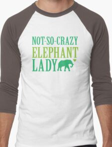 NOT-So-CRAZY elephant lady Men's Baseball ¾ T-Shirt