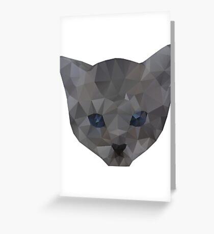 kitten head Greeting Card