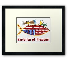 Evolution of Freedom Poster Framed Print