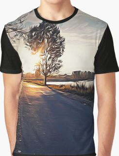 Autumn sunset Graphic T-Shirt