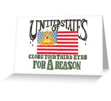 Corporate Government Protest Poster Greeting Card
