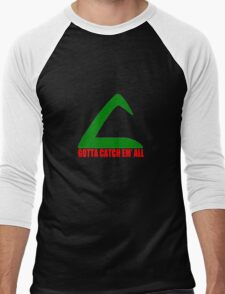 Ash Ketchum Logo Pokemon Men's Baseball ¾ T-Shirt