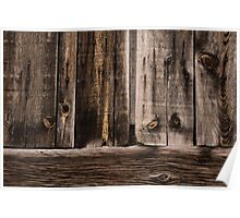 Weathered Wooden Abstracts - 2 Poster