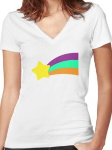 Shooting Star // Mabel Pines Women's Fitted V-Neck T-Shirt