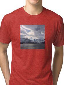 Snowy Mountains Near Øksfjord, Norway Tri-blend T-Shirt