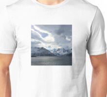 Snowy Mountains Near Øksfjord, Norway Unisex T-Shirt