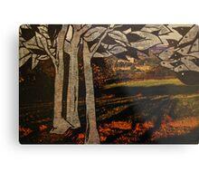 paper trees & pod birds  Metal Print