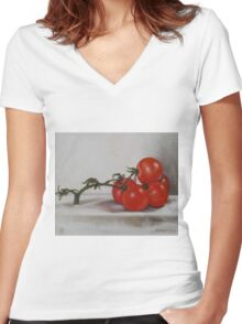 Tomatoes 1 Women's Fitted V-Neck T-Shirt