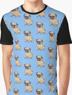 PUG (blue) Graphic T-Shirt