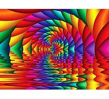Tunneling Through Lake Rainbow Photographic Print