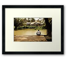 Cambodia: Contemplation Framed Print