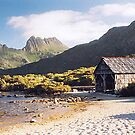 Dove Lake Boatshed and Cradle Mountain, Tasmania by Adrian Paul