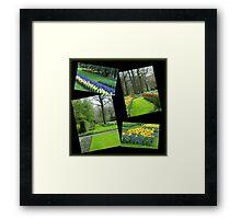 April in the Keukenhof Gardens Collage Framed Print