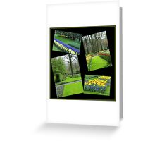 April in the Keukenhof Gardens Collage Greeting Card