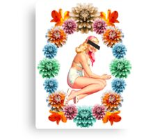Flower Pin-Up *CENSORED* Canvas Print